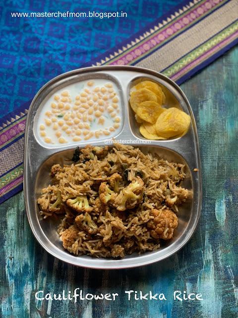 Cauliflower Tikka Rice