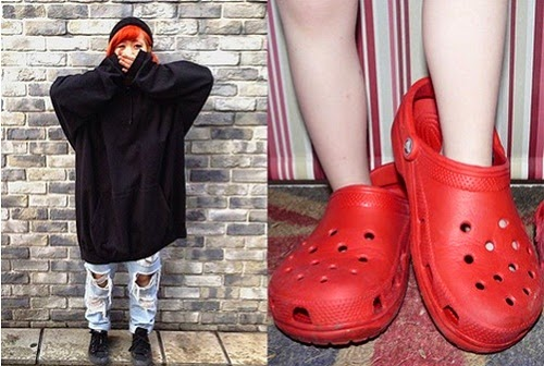 Oversized clothes and shoes