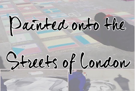 Painted onto the Streets of London - Paint the Roses Red
