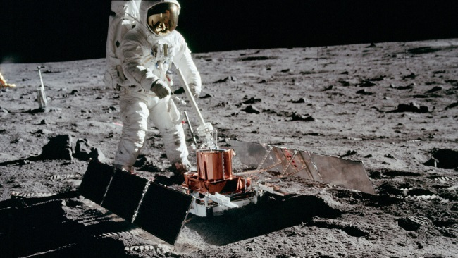 Apollo 11. Purveyors of cosmic evolution would have us believe that the earth and solar system are very old. Data from the moon is added to other information indicating a young solar system.