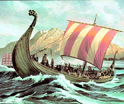 A viking asszonya - viking hajó