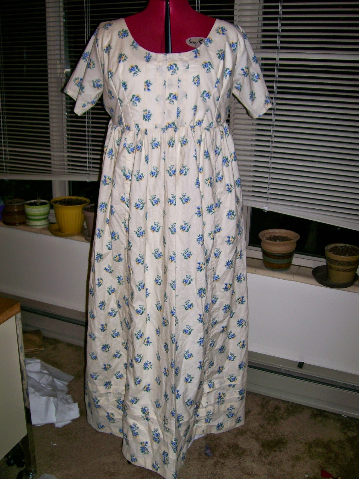 Completed Regency/Empire/Neoclassical dress.