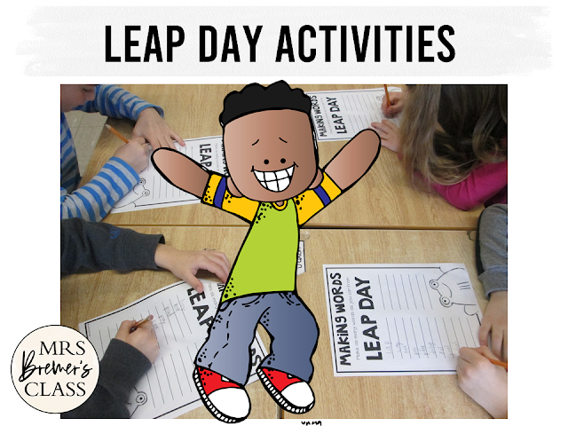Leap Day activity pack with activities to celebrate Leap Day in the classroom for First Grade and Second Grade