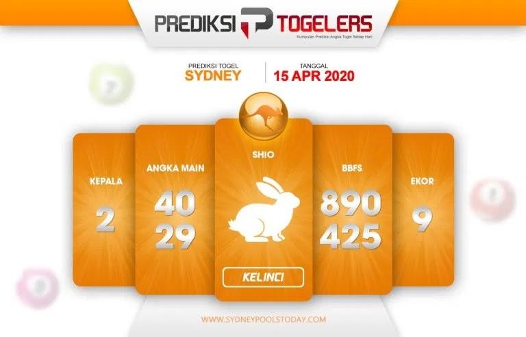 Prediksi Togel Sydney Rabu 15 April 2020 - Togellers