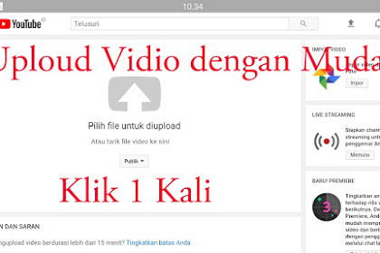 Cara Mengapluod vidio Yutube lewat hp/android