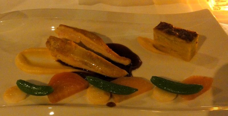 La vilette restaurant Rotterdam roasted guinea fowl parsnip chioggia beet potato gratin cepes sauce