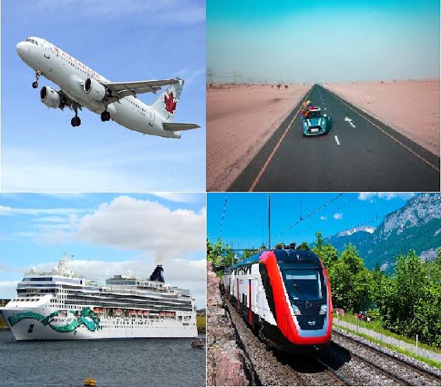Modes of Transportation of Travel - Transportation Modes