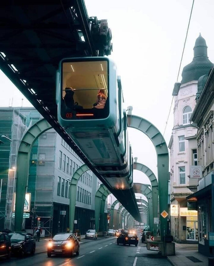 Suspended railway, Wuppertal, Germany