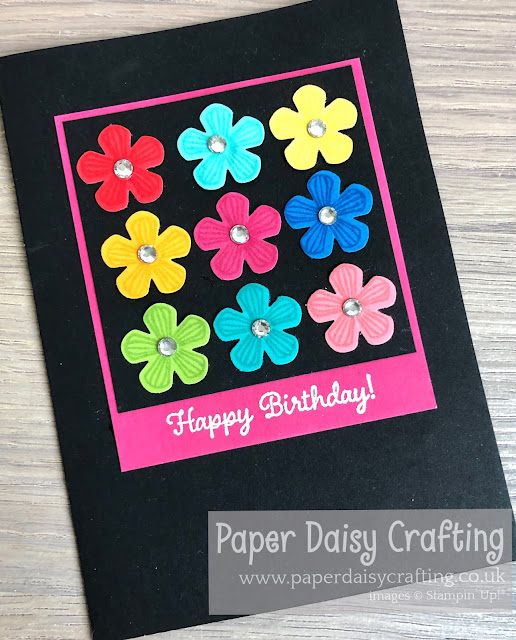 Small bloom punch Stampin Up Thoughtful Blooms