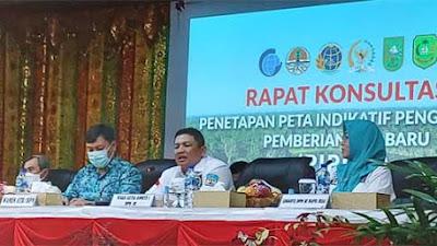 Pantau PIPPIB, Wamen ATR/BPN dan Waka Komite I DPD RI Fernando Sinaga Kunjungi Riau