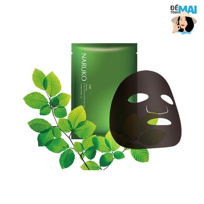 Review Mặt nạ trị mụn Naruko tràm trà Tea Tree Shine Control & Blemish Clear Mask- Sản phẩm được nhiều người tin dùng nhất
