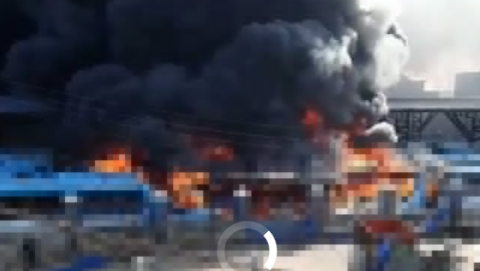 Breaking! Oyingbo BRT park on fire