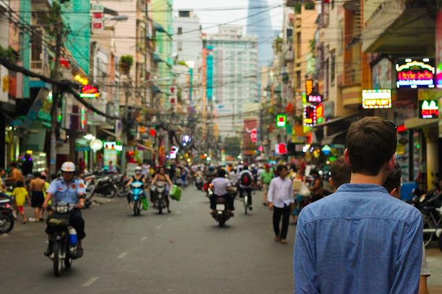 خلفيات من بين الناس في الشارع