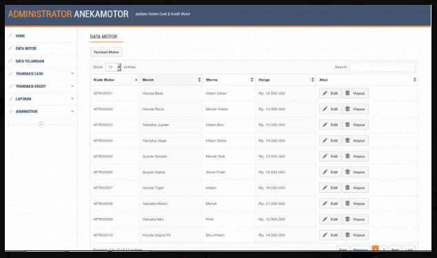 Download source code Aplikasi Kredit Motor