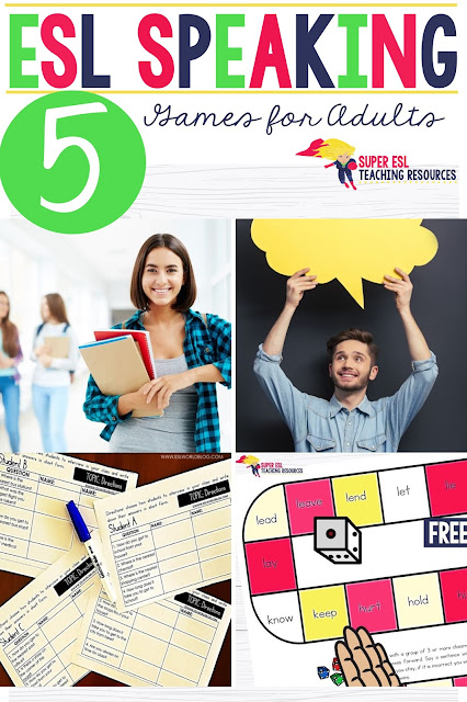 Looking for some fun and exciting speaking games for adults in your ESL/ESOL classes? Look no further, this page includes links to fun and free games you can use with your students at different levels of ESL.