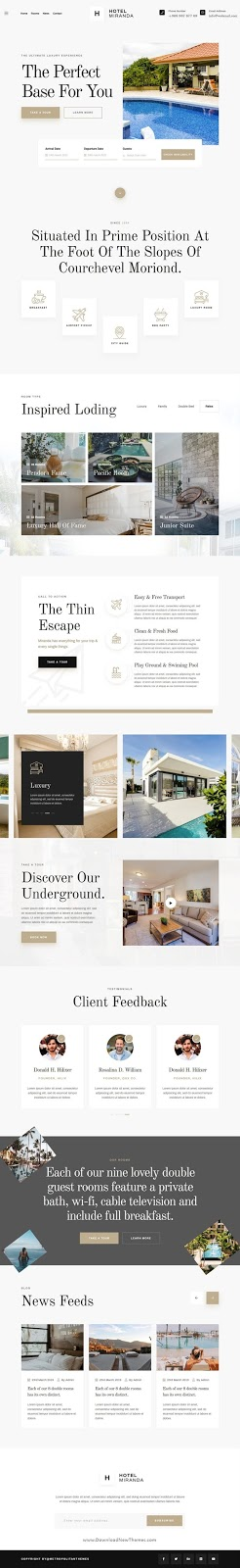Download Hotel Booking Template