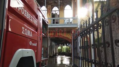 Καταστράφηκε ολοσχερώς το κτίριο του Πολεμικού Μουσείου στα Χανιά