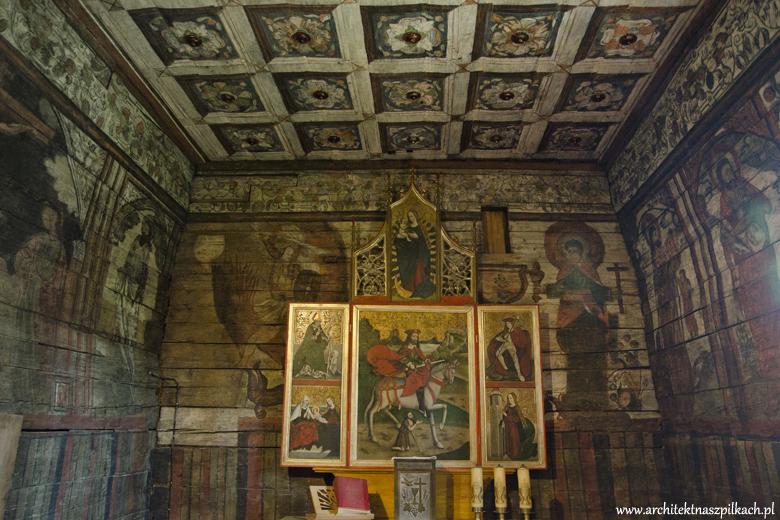 Drewniane kościoły Małopolski - wspaniały kościół św. Michała w Grywałdzie.