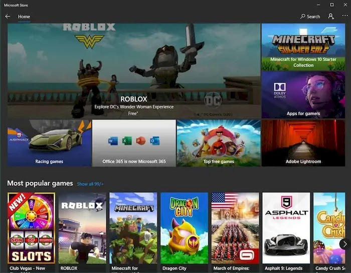 PC game download sites microsoft store