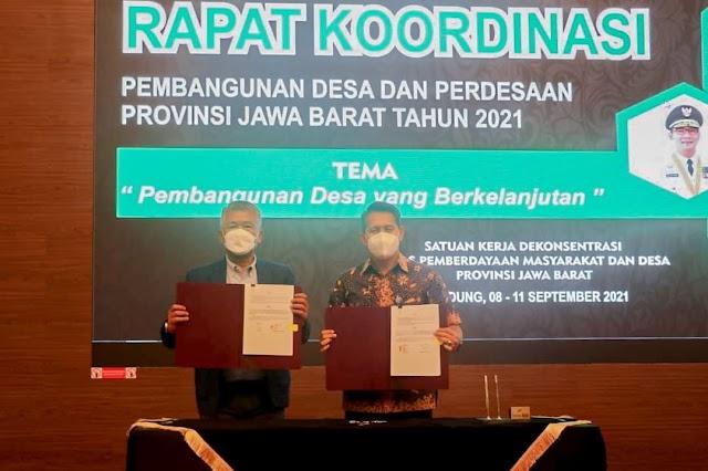 Bank bjb  dan DPMDes Jabar Tandatangani PKS  Tentang Pengelolaan Keuangan Desa dan BUMDes