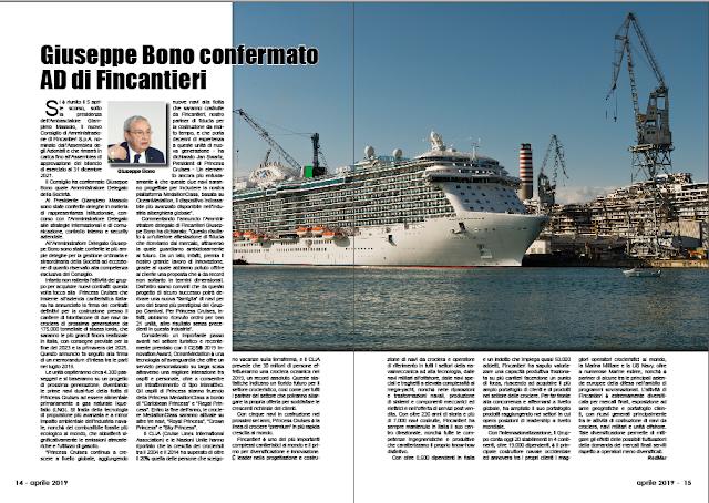 APRILE PAG. 14 - Giuseppe Bono confermato AD di Fincantieri