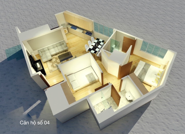 Thiết kế căn hộ số 04 chung cư tháp doanh nhân