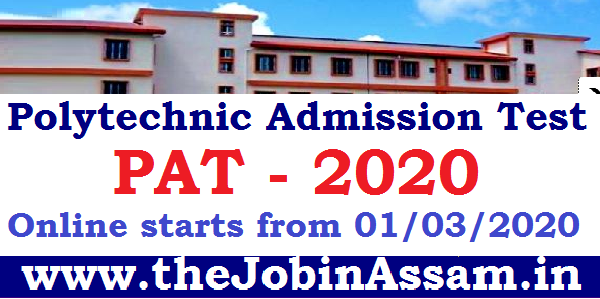 Polytechnic Admission Test [PAT] 2020