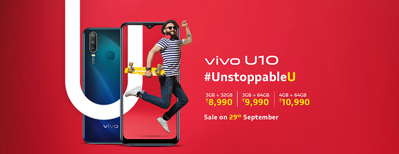 Vivo U10 is official, a budget phone with SD665, 5,000mAh, and triple-cam!