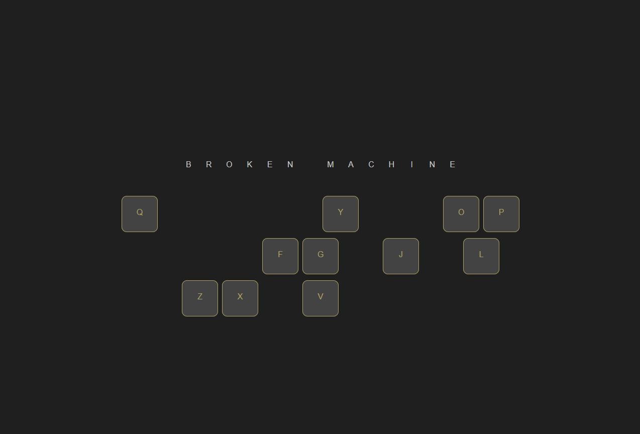 broken machine