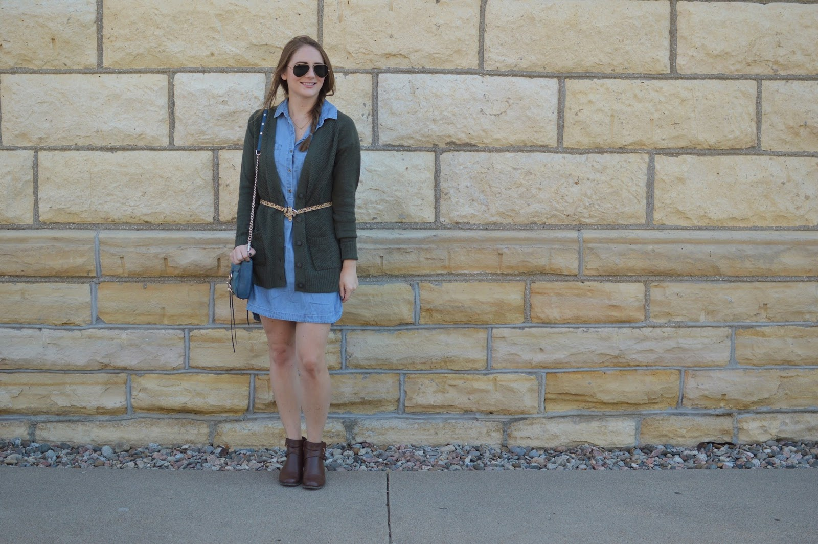 how to style booties with a dress for fall | cute fall outfit ideas | layered looks for fall
