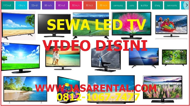 HARGA SEWA LED TV