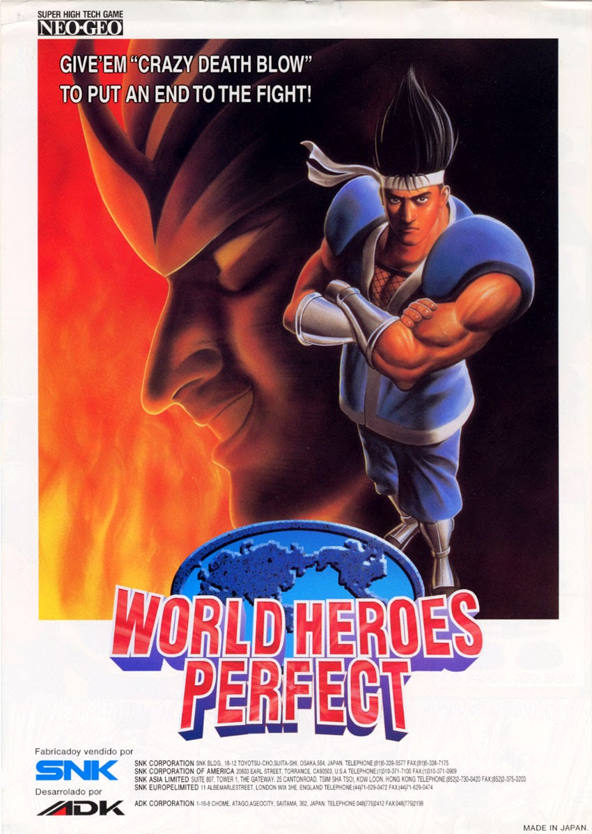 World Heroes Perfect+arcade+game+retro+portable+2D+fight+art+flyer