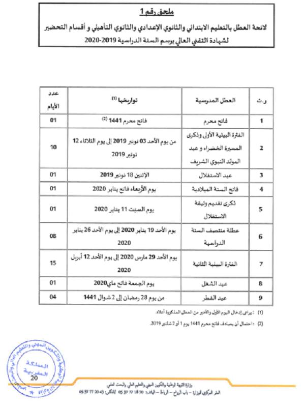 Calendrier Scolaire Mai 2020.Dates Vacances Scolaires Rebat Maroc 2019 2020 Calendrier