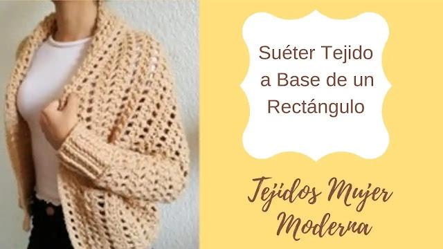 Cómo Tejer un Suéter a Base de un Triángulo a Crochet