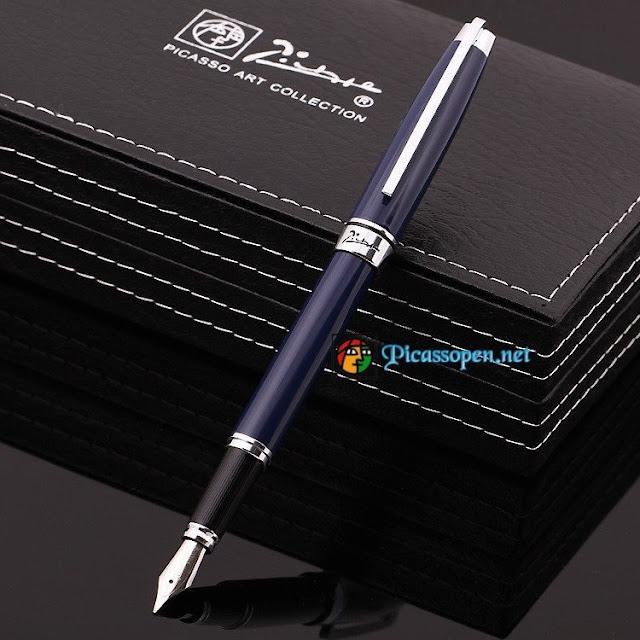 Bút máy cao cấp Picasso 912 màu xanh