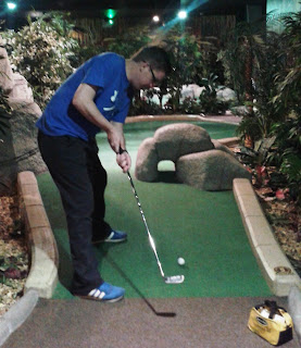 Photo of Richard Gottfried playing hole 5 at The Lost City Adventure Golf course in Nottingham