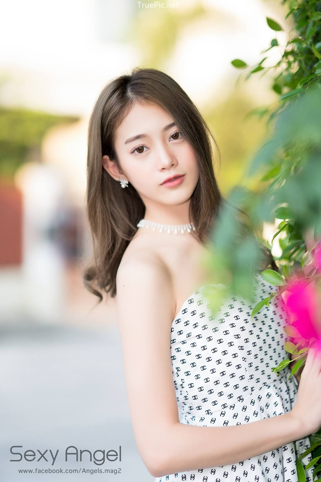 Thailand angel model Pimploy Chitranapawong - Welcoming the sun with Sweetheart mini dress