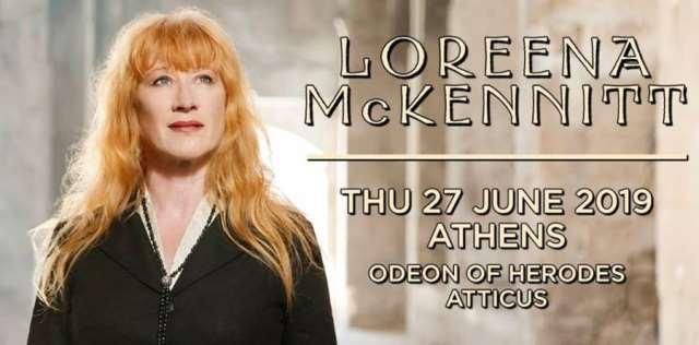 LOREENA McKENNITT: Πέμπτη 27 Ιουνίου @ Θέατρο Ηρώδου του Αττικού