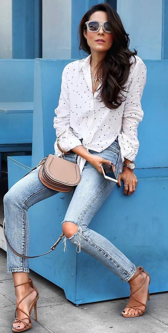 ootd: shirt + bag + jeans
