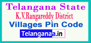 K.V.Rangareddy District Pin Codes in Telangana State