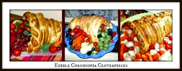 Edible Thanksgiving Cornucopia Centerpiece