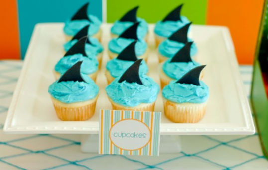 Be Different Act Normal Shark Week Cupcakes