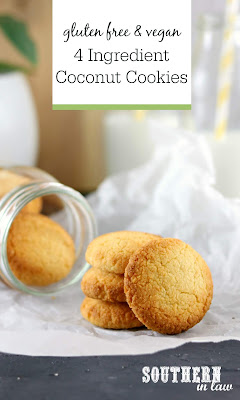 4 Ingredient Coconut Cookies Recipe