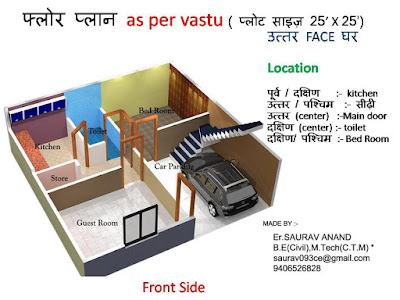 25 Gaj Makan Ka Naksha (25 Gaj House Map Design)   25 गज मकान का नक्शा - 4