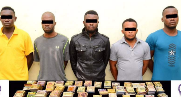 Faces of 5 Nigerians Arrested for Robbery in UAE