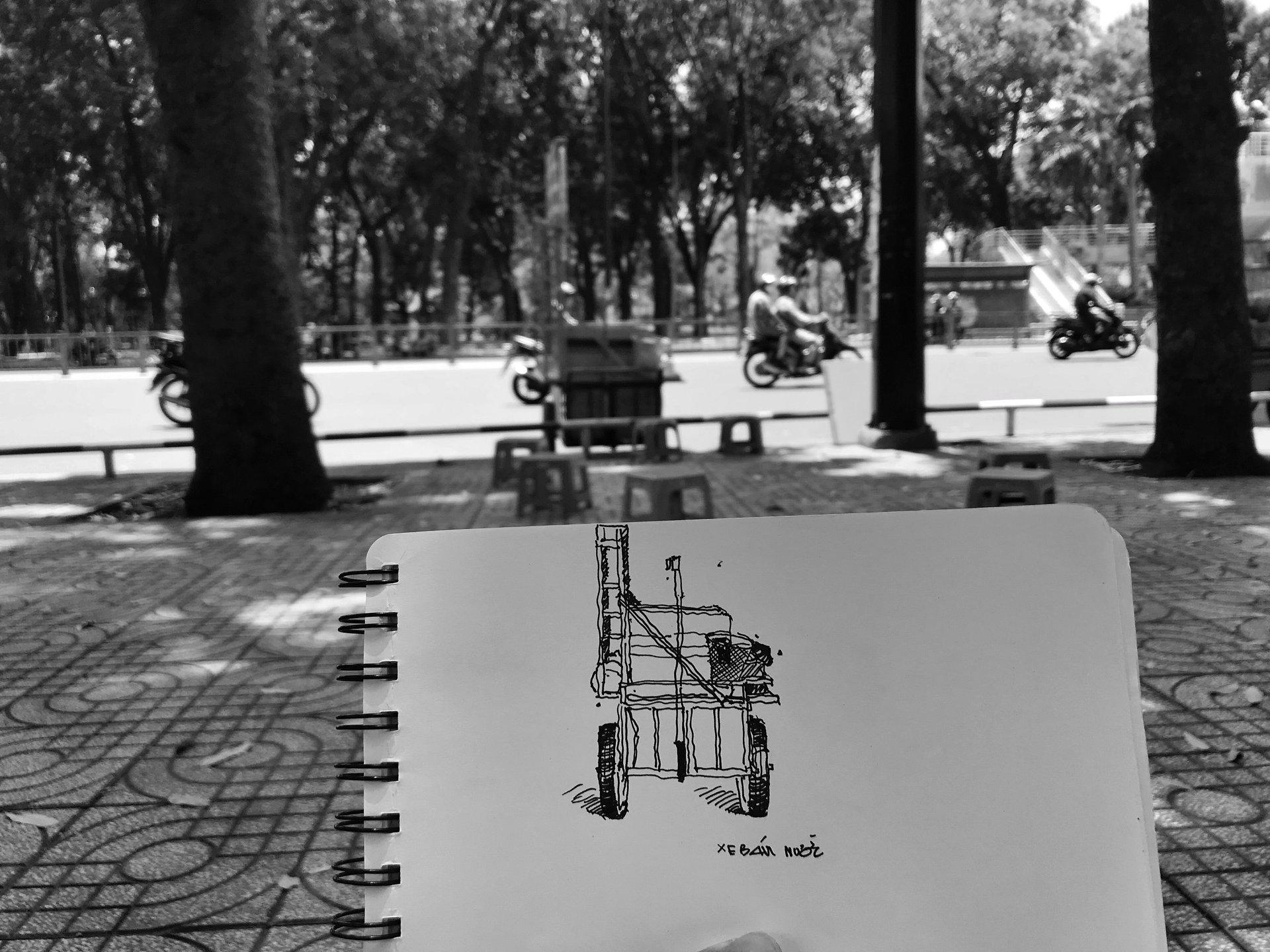 ký họa của sinh viên kiến trúc