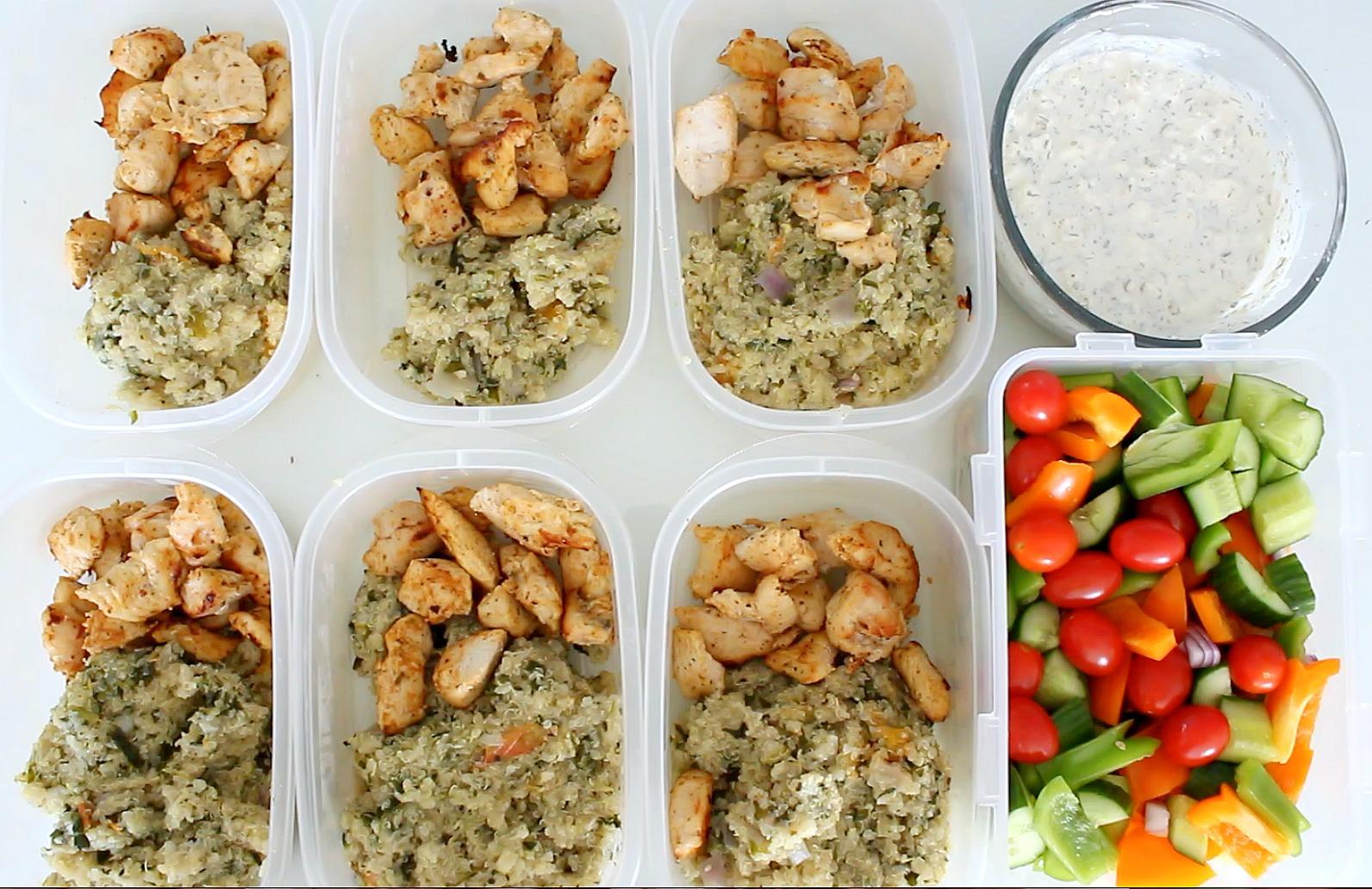 Samantha Jane: Easy Meal Prep: Greek Chicken & Quinoa
