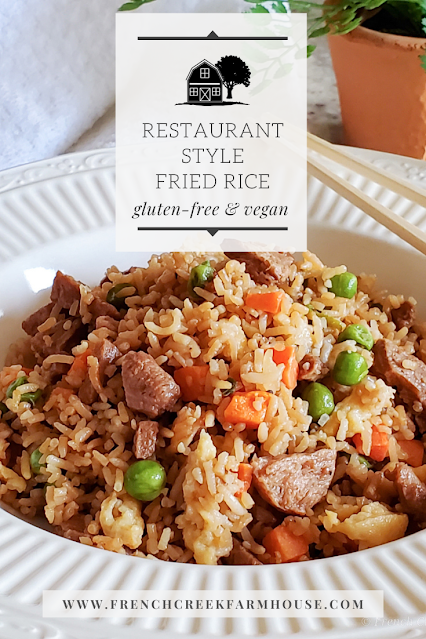 Easy gluten-free and vegan fried rice that tastes just like it came from a restaurant