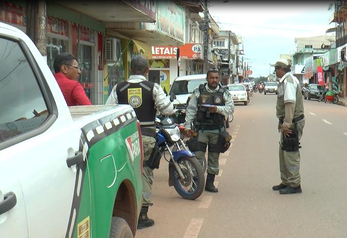 Órgãos de trânsito intensificam trabalho de fiscalização em Itaituba.