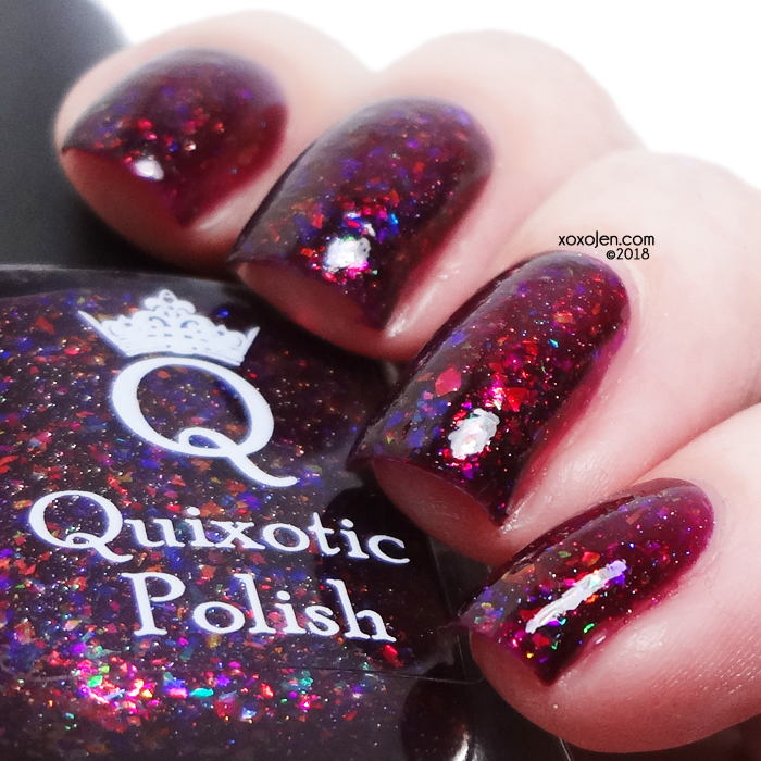 xoxoJen's swatch of Quixotic Polish Down to Clown